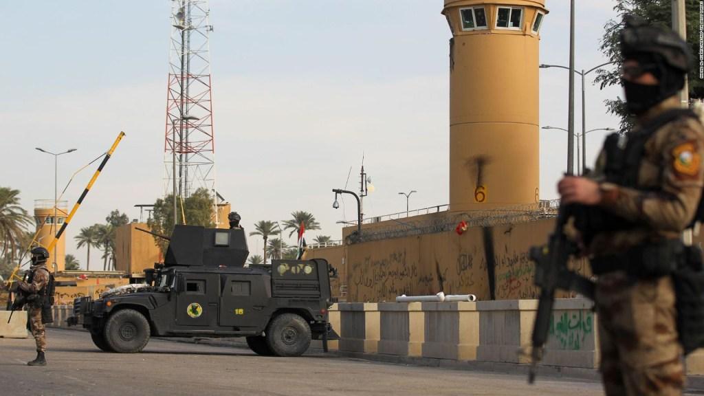 Los daños sufridos por la embajada de EE. UU. en Bagdad