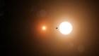 Un adolescente ayudó a descubrir un planeta con dos soles