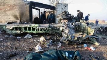 Cae vuelo ucraniano en Irán: estos son los restos del avión