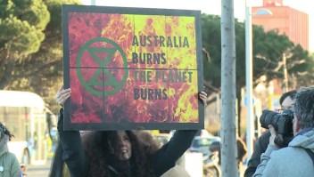 Protestas en España por incendios que azotan Australia