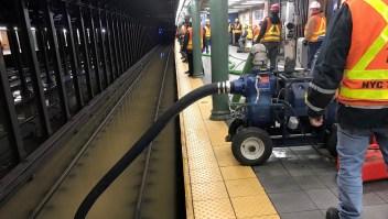 Una inundación obligó a parar el metro de Manhattan