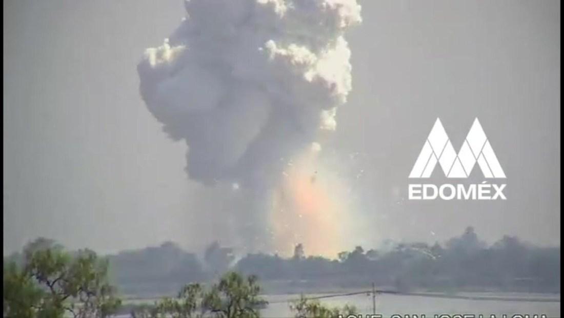 Almacén de pólvora explota en Zumpango, Estado de México