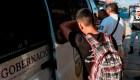 Los migrantes quieren entrar a México en paz