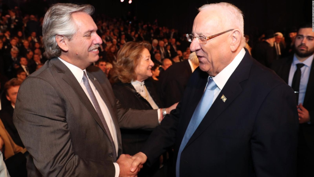 Alberto Fernández, en el Foro Mundial del Holocausto