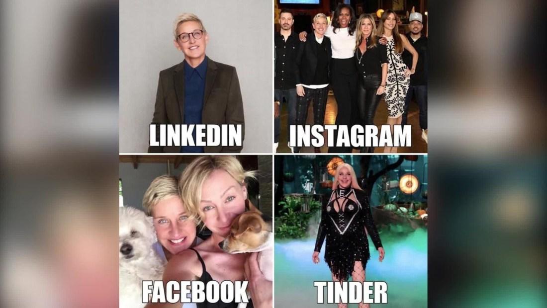 ¿Pondrías la misma foto en Facebook, Instagram o Tinder?