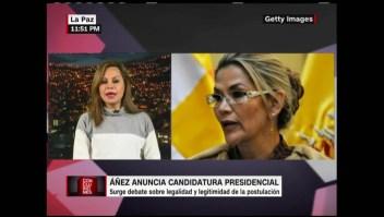 Critican decisión de Áñez de ser candidata a presidenta