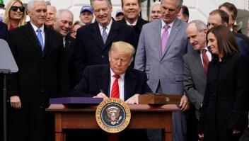 El presidente Trump firma el T-MEC
