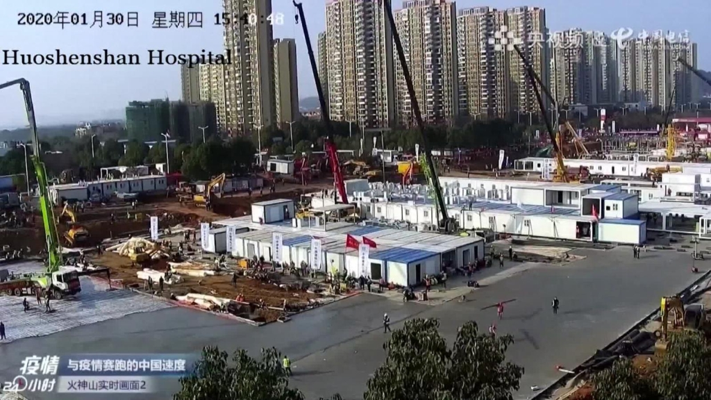 Así se construye un hospital para coronavirus