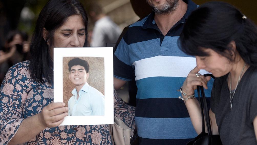 El pésame de un ex Puma tras el crimen en Villa Gesell. (Foto de Télam).