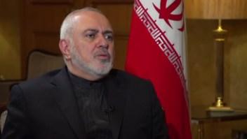 """El ministro de Relaciones Exteriores de Irán, Javad Zarif, dijo a CNN que los días de Estados Unidos en la región de Medio Oriente """"están contados... porque no son bienvenidos""""."""