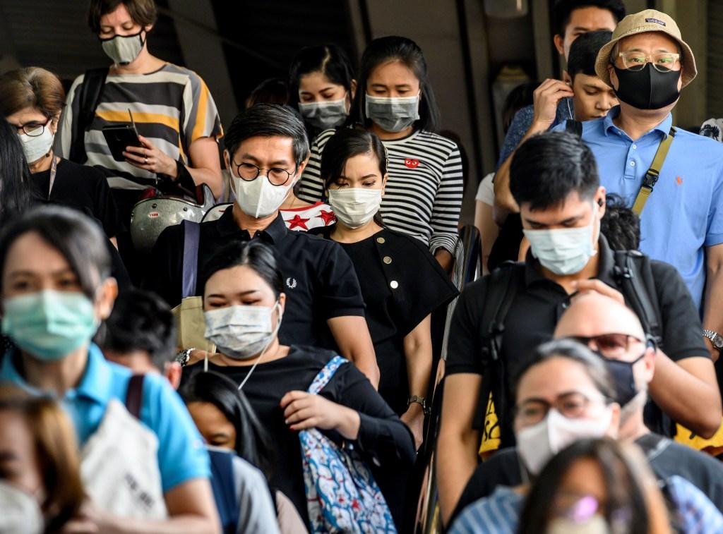 tailandia asia tapabocas coronavirus