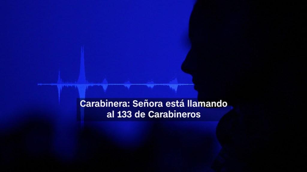 Imagen del video difundido por los carabineros de Chile.