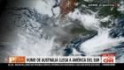 El humo de los incendios Australia llega a América del Sur