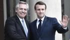 El intercambio de regalos entre Alberto Fernandez y Emmanuel Macron