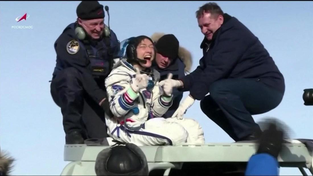 Nueva marca espacial para la astronauta Christina Koch