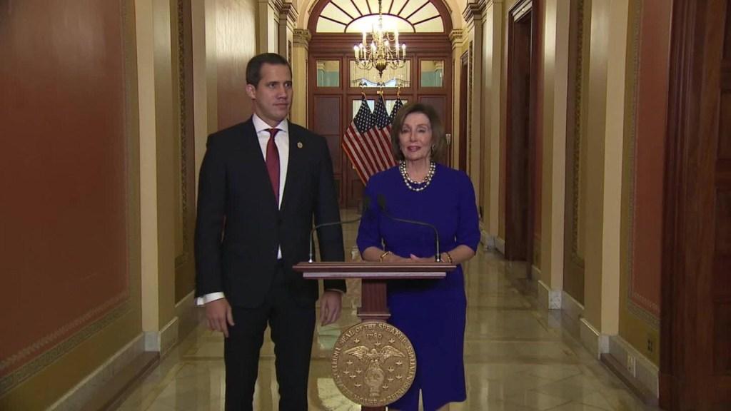 Estó pasó en la reunión de Juan Guaidó con Nancy Pelosi