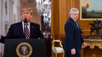 Trump envío su apoyo a Alberto Fernández