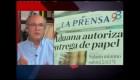 Liberan papel de prensa en Nicaragua