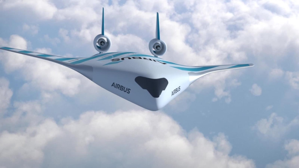 Airbus revela el diseño de un avión de alas integradas