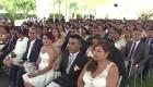 """Dieron el """"sí"""" en una boda masiva en Lima"""