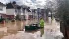 Graves inundaciones en Inglaterra por tormenta Dennis