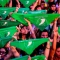 Masiva marcha por la legalización del aborto en Argentina