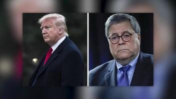 Las fricciones entre Trump y Barr