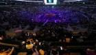 Así se vive el inicio del homenaje a Kobe Bryant