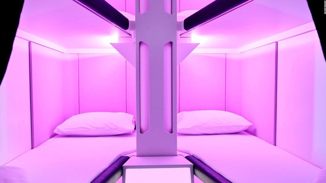 Cabinas para dormir en aviones de bajo costo