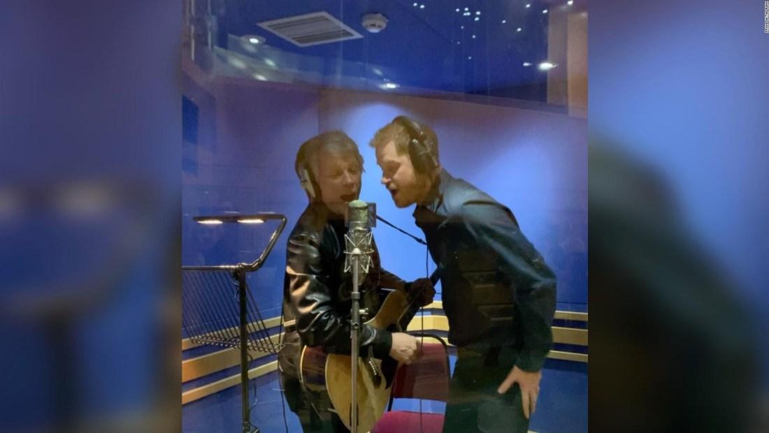 Príncipe Enrique y Jon Bon Jovi, juntos en Londres