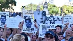 Masiva marcha por el crimen de Fernando Báez Sosa. (Foto de Télam).
