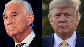 Trump dice que no perdonará a Roger Stone, por ahora