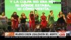 """""""Un violador en tu camino"""" en la marcha en Argentina"""