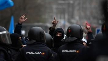 Policías exigen mejoras laborales en España