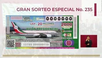 AMLO pospone venta de boletos para la rifa del avión presidencial