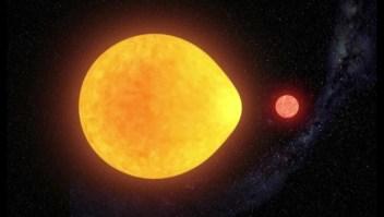 Astrónomos descubren una estrella en forma de gota