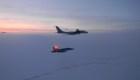 Así fueron interceptados dos aviones rusos cerca de Alaska