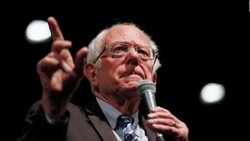 El enojo de Sanders con un periodista