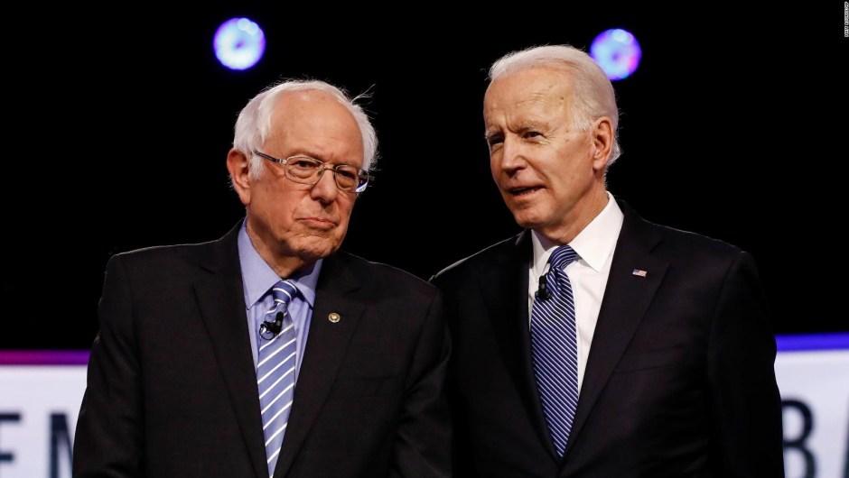 Biden y Sanders debaten sin público