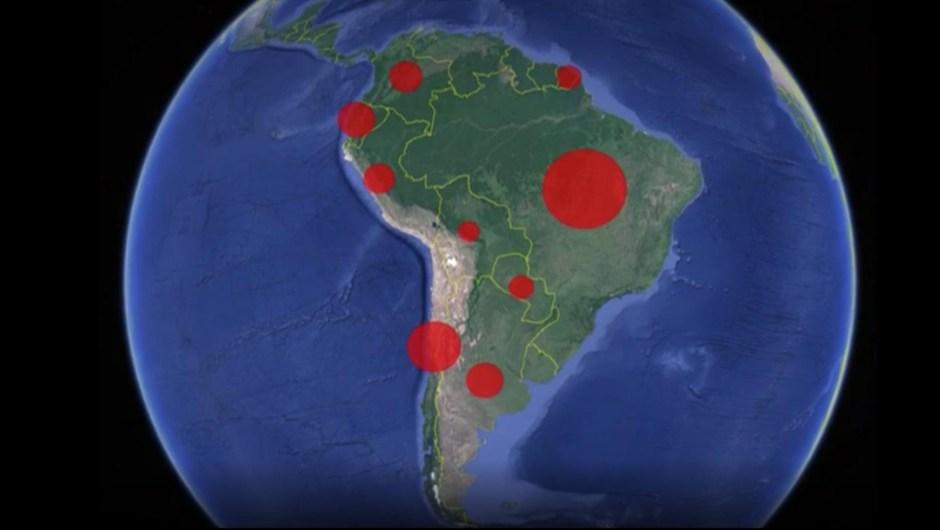 Coronavirus, en casi todos los países de América del Sur