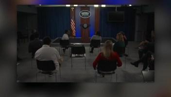 Una rueda de prensa en El Pentágono fuera de lo común