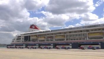 El desembarco del crucero MS Braemar en Cuba