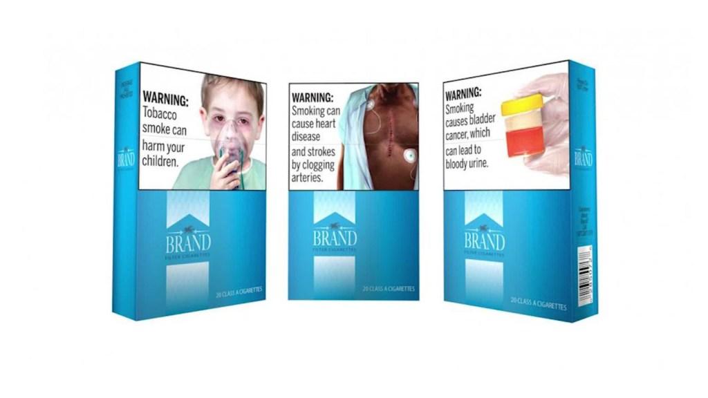 Nuevas gráficas de advertencia en paquetes de cigarrillos