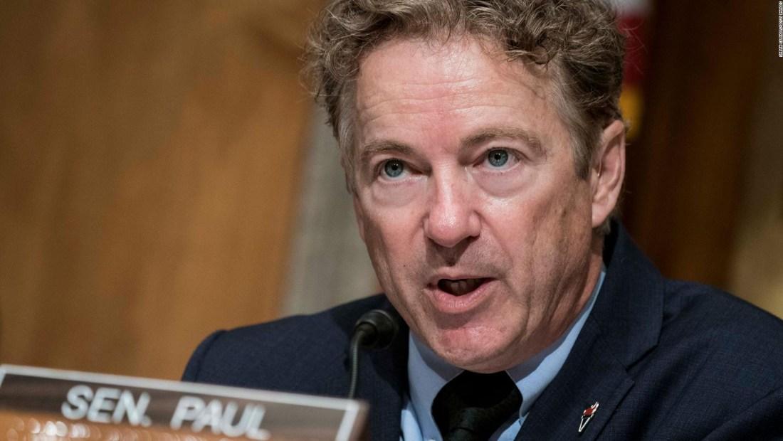 El senador Rand Paul dio positivo por coronavirus