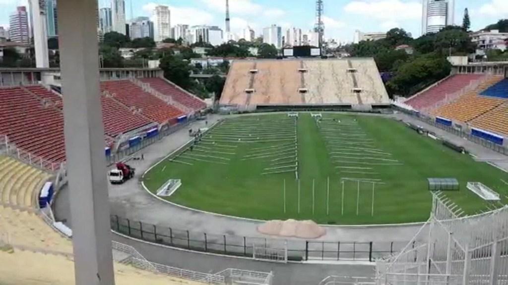Coronavirus: atenderán infectados en un estadio de Brasil