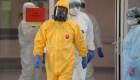 Así viste Putin para recorrer un hospital con infectados