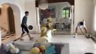 Djokovic juega tenis bajo techo