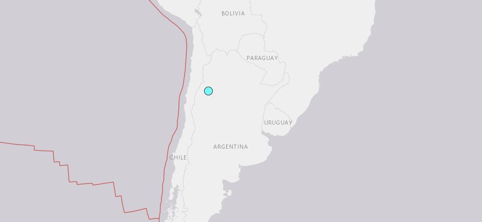 Sismo Argentina