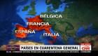 Algunos de los países con cuarentena total
