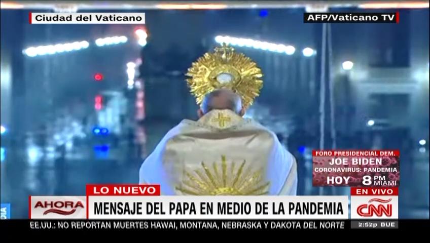 "Coronavirus: el papa Francisco da bendición ""Urbi et Orbi"" ante la pandemia"